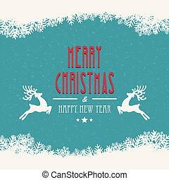 feliz navidad, plano de fondo, nevoso
