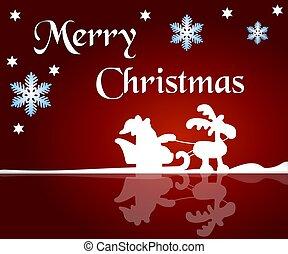 feliz navidad, plano de fondo, rojo