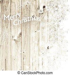 feliz navidad, tarjeta de felicitación, con, aislado, side.,...