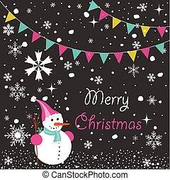 feliz navidad, tarjeta