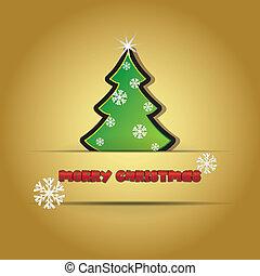 feliz navidad, tema, con, árbol de navidad, -, ilustración