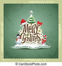 feliz navidad, vendimia, diseño