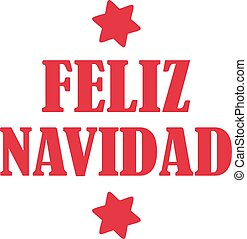 Feliz navidad with stars