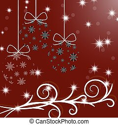 feliz navidad, y, un, feliz, nuevo, year., árbol de navidad,...