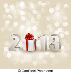 feliz, nuevo, template., 2013!, vector, diseño, illustration...
