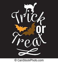 feliz, o, logotipo, señal, gusto, truco, halloween