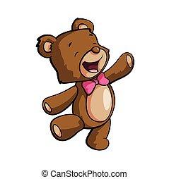 feliz, oso, teddy