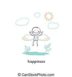 feliz, pessoas