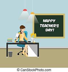 feliz, professores, dia