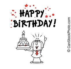 feliz, querido, cumpleaños