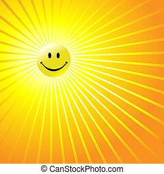 feliz, radiante, cara sonriente