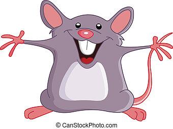 feliz, ratón