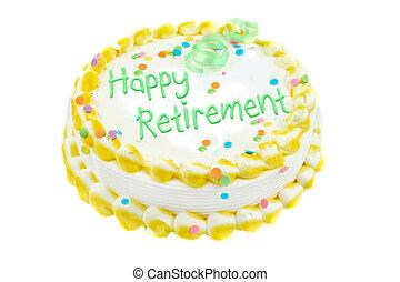 feliz, retiro, festivo, pastel