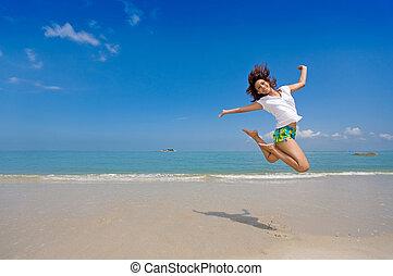 feliz, salto