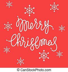 feliz, saudação, card., natal