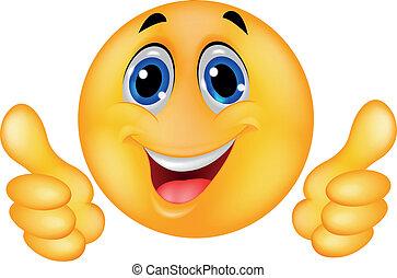 feliz, smiley, emoticon, cara