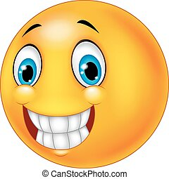 feliz, smiley enfrentam