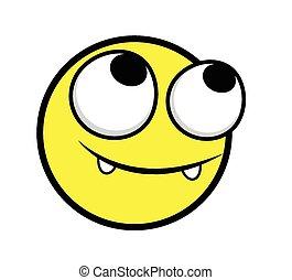 feliz, smiley, inocente, rosto