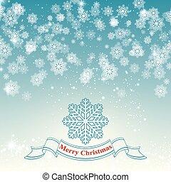 feliz, snowflake, vetorial, retro, fundo, natal