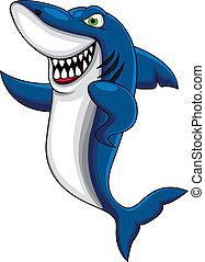 feliz, tiburón