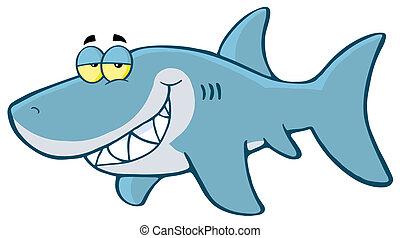 feliz, tubarão