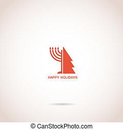 feliz, vacaciones, hanukkah