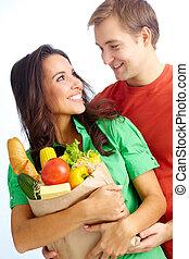 feliz, vegetarianos
