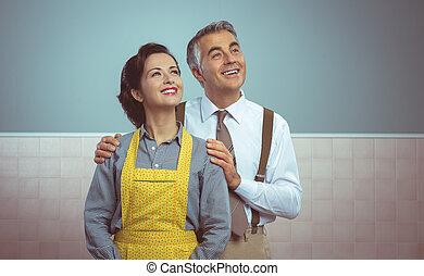 feliz, vendimia, pares en el país