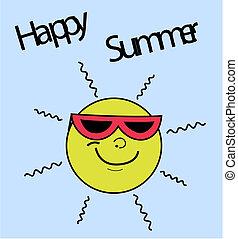 feliz, verão