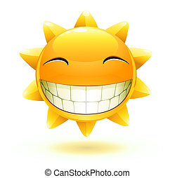 feliz, verano, sol