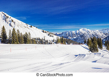 Fellhorn Ski resort, Bavarian Alps, Obersdorf, Germany