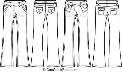 fellobbanás, cajgvászon jeans, csontos
