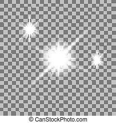 fellobbanás, vektor, ábra, fény