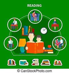 felolvasás, zenemű, irodalom, emberek