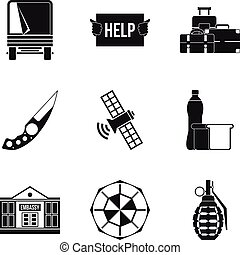 Felon icons set, simple style - Felon icons set. Simple set ...