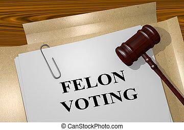 Felon Voting legal concept