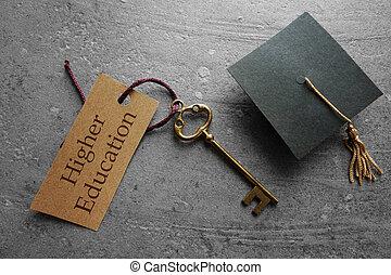 felsőoktatás, van, a, kulcs