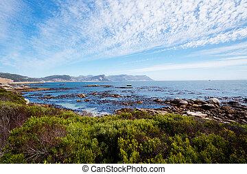 felsblöcke, sandstrand, cape town, südafrika