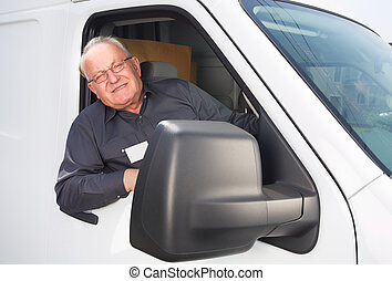 felszabadítás, autó., öregedő bábu