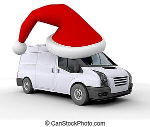 felszabadítás furgon, karácsony