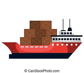 felszabadítás, teherhajó, szolgáltatás