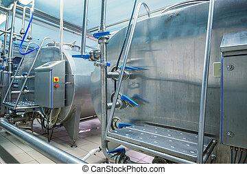 felszerelés, berendezés, tejcsarnok