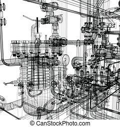 felszerelés, ipari