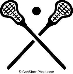 felszerelés, lacrosse