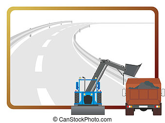 felszerelés, road-building