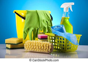 felszerelés, takarítás