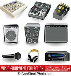 felszerelés, zene