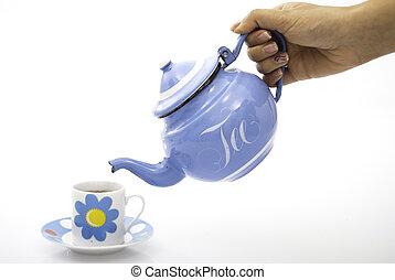 felszolgálás, tea