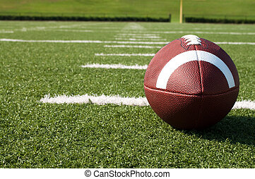 felt, amerikansk fodbold, closeup