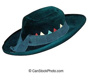 Felt Hat with Ribbon Trim